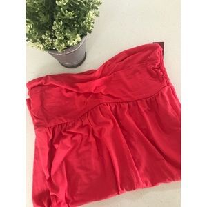Coral dress sweetheart neck NWT